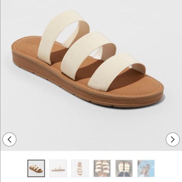 d572348dad6f7 Universal Thread Shoes   Cream Slide Sandals   Poshmark